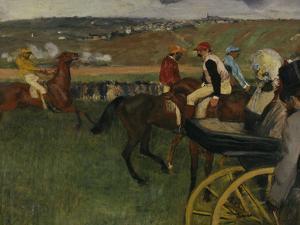Racecourse, Amateur Jockeys, c.1877 by Edgar Degas