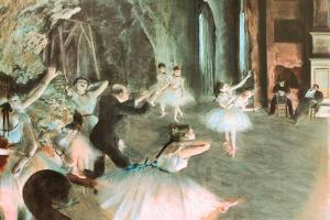 Rehearsal on Stage Edgar Degas by Edgar Degas