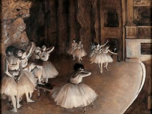 Rehearsal on Stage by Edgar Degas