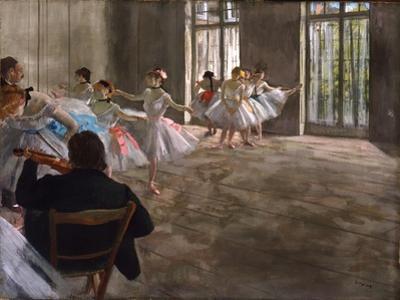Repetition au Foyer, c.1875 by Edgar Degas
