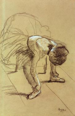Seated Dancer Adjusting Her Shoes, circa 1890 by Edgar Degas