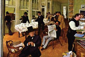 The Cotton Exchange by Edgar Degas