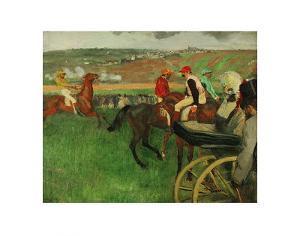 The Race Course: Amateur Jockeys near a Carriage, c.1876-1887 by Edgar Degas