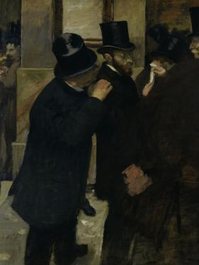 The Stock Exchange, c.1878 by Edgar Degas