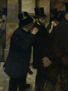 The Stock Exchange, c.1878 by Edgar Degas
