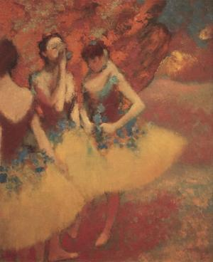 Three Dancers in Yellow Skirts, 1891 by Edgar Degas