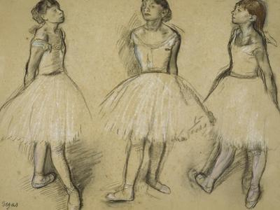 Three Studies of a Dancer in Fourth Position, 1879-80 by Edgar Degas