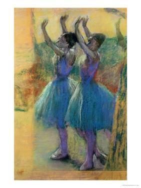 Two Blue Dancers by Edgar Degas