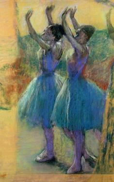 Two Blue Dancers by Edgar Degas