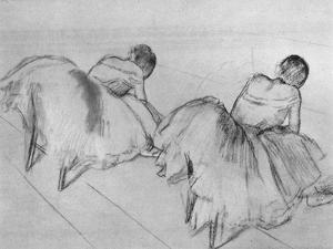 'Two Dancers Resting', c20th century by Edgar Degas