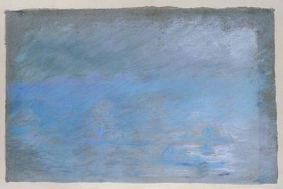 Waterloo Bridge, Brouillard, Pastel on Blue Paper 1901