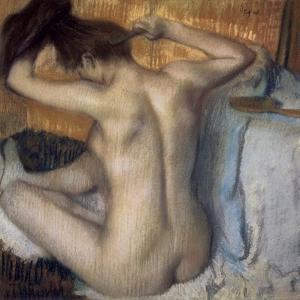 Woman Combing Her Hair by Edgar Degas
