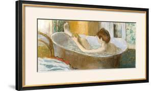 Woman in Her Bath, Sponging Her Leg, circa 1883 by Edgar Degas