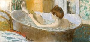 Woman in Her Bath, Sponging Her Leg, circa 1883 by Edgar Degas