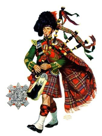 """Bagpipes,""September 10, 1932 by Edgar Franklin Wittmack"