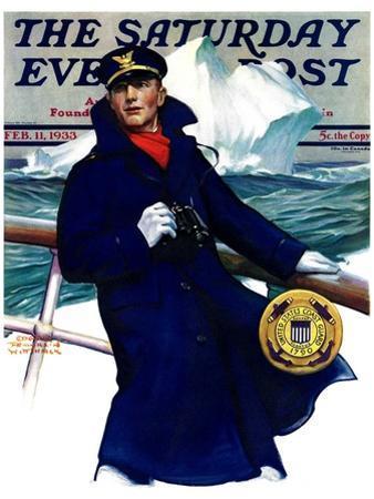 """Coast Guard,"" Saturday Evening Post Cover, February 11, 1933"