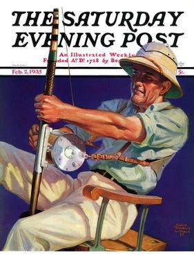 """Deep Sea Fisherman,"" Saturday Evening Post Cover, February 2, 1935 by Edgar Franklin Wittmack"