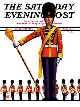 """Drum Major,"" Saturday Evening Post Cover, October 27, 1934 by Edgar Franklin Wittmack"