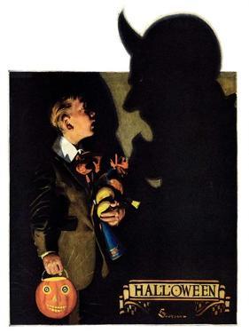 """Halloween, 1926,""October 30, 1926 by Edgar Franklin Wittmack"