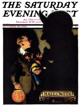 """""""Halloween, 1926,"""" Saturday Evening Post Cover, October 30, 1926 by Edgar Franklin Wittmack"""