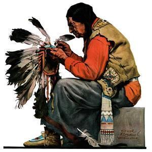 """Indian Headdress,""April 10, 1926 by Edgar Franklin Wittmack"