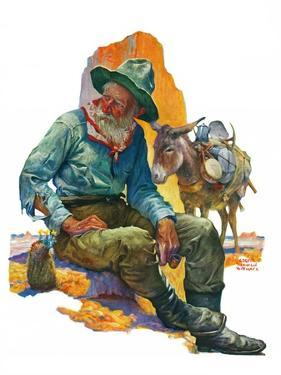 """Old Miner,""April 6, 1929 by Edgar Franklin Wittmack"