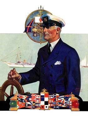 """Ship's Captain,""July 28, 1934 by Edgar Franklin Wittmack"