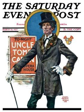 """""""Uncle Tom's Cabin,"""" Saturday Evening Post Cover, March 26, 1927 by Edgar Franklin Wittmack"""