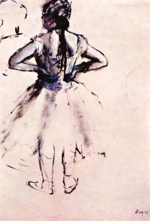 Edgar Germain Hilaire Degas (Ballet dancer from behind) Art Poster Print