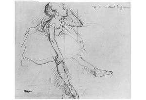 Edgar Germain Hilaire Degas (Little Dancer, relax) Art Poster Print