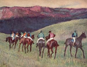 Edgar Germain Hilaire Degas (Racehorses: The Training) Art Poster Print