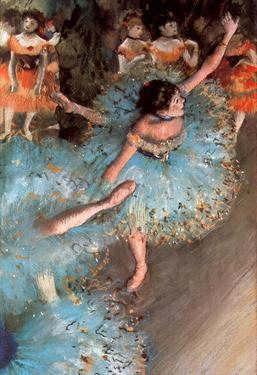 Edgar Germain Hilaire Degas (The green dancers) Art Poster Print