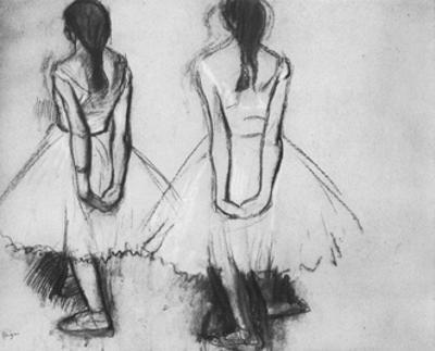 Edgar Germain Hilaire Degas (Two studies from the fourteen-year-old dancer) Art Poster Print