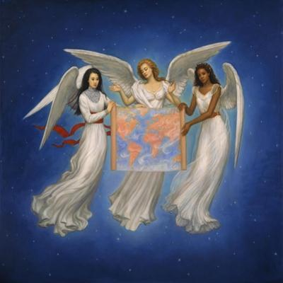 Angels with map by Edgar Jerins