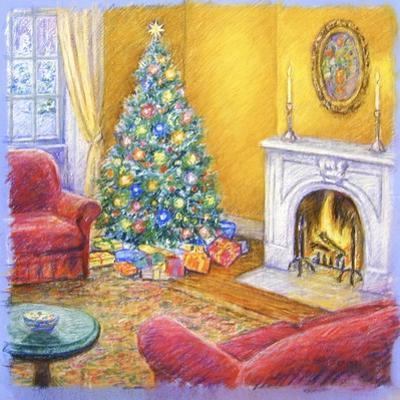 Cozy Christmas Fire by Edgar Jerins