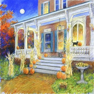 Halloween Porch by Edgar Jerins