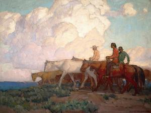 Navajo Range Riders by Edgar Payne