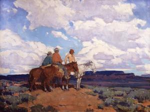 Navajo Riders by Edgar Payne