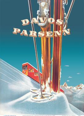 Davos Switzerland - Parsenn Ski Area - Funicular Railway by Edi Hauri