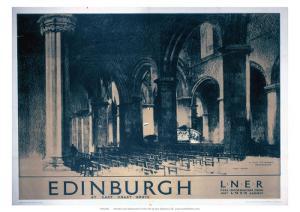 Edinburgh: St Giles Cathedral, LNER, c.1930