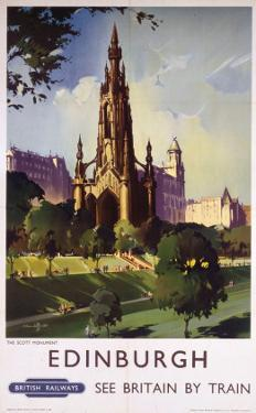 Edinburgh: The Scott Monument, BR, c.1950s