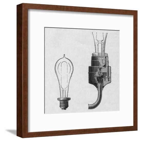 Edison's Lamp, Original--Framed Giclee Print