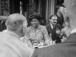 Edith S. Sampson and Cyrille Makinsky at Fouquet's Restaurant