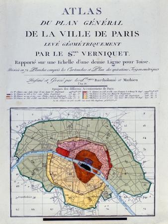 Atlas Du Plan General De La Ville De Paris, 1796