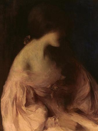 Portrait d'une Jeune Fille a Robe Rose