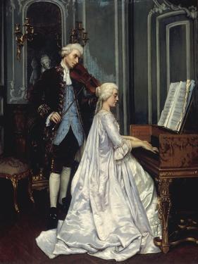 The Duet, 1872 by Edmond Georges Grandjean