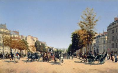 View of the Champs-Elysees from the Place de L'Etoile, 1878