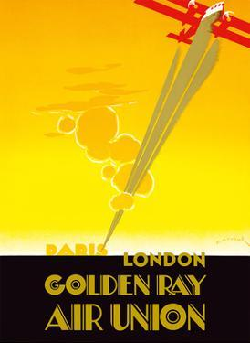 Paris to London - Golden Ray - Air Union French Airline by Edmond Maurus