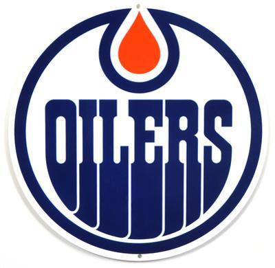 Edmonton Oilers Lasercut Steel Logo Sign