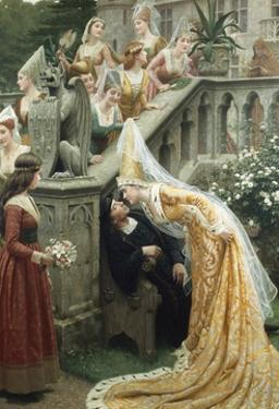 Alain Chartier by Edmund Blair Leighton